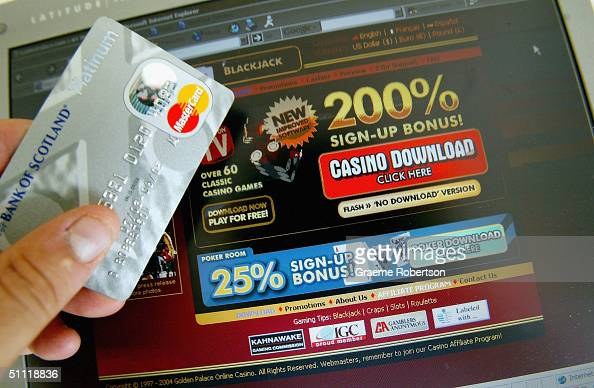 A casino's websites on the internet is pictured on July 27 2004 in London Internet gambling websites should introduce ageverification checks to...
