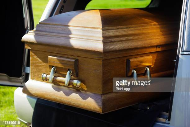 Casket in a Hearse
