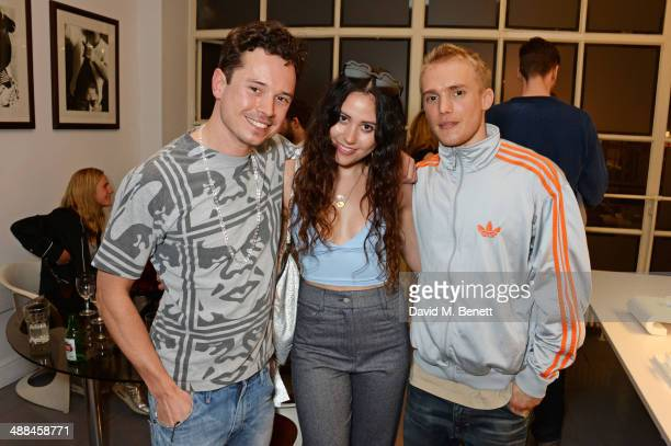 Caspar Giri Eliza Doolittle and Alastair Giri attend the launch of the new 'Jade Jagger' New Bond Street showroom on May 6 2014 in London England