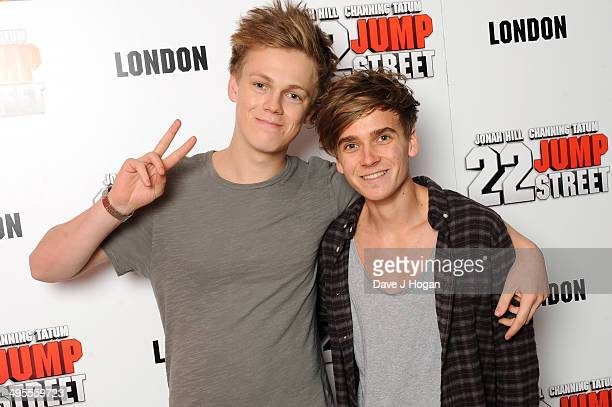 Caspar Lee and Joe Sugg attend the special celebrity screening of 22 Jump Street taking place at the new Firmdale Hotel Ham Yard Hotel based near...
