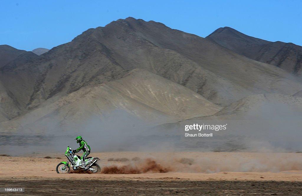 Caspar Schellekens of team BAS Dakar competes in stage 12 from Fiambala to Copiapo during the 2013 Dakar Rally on January 17, 2013 in Fiambala, Argentina.