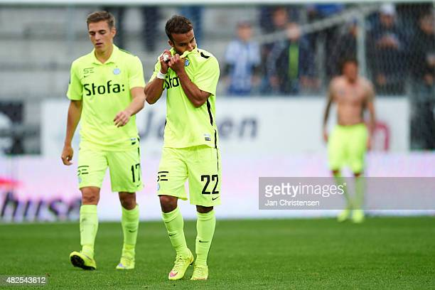 Casper Nielsen of Esbjerg fB and Mohammed Fellah of Esbjerg fB looks dejected after the Danish Alka Superliga match between Viborg FF and Esbjerg fB...