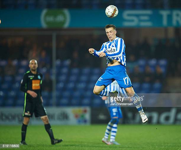 Casper Nielsen of Esbjerg fB in action during the Danish Alka Superliga match between Esbjerg fB and Viborg FF at Blue Water Arena on April 04 2016...