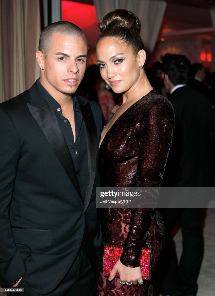Casper Smart and actress/singer Jennifer Lopez attend the 2012 Vanity Fair Oscar Party Hosted By Graydon Carter at Sunset Tower on February 26 2012...