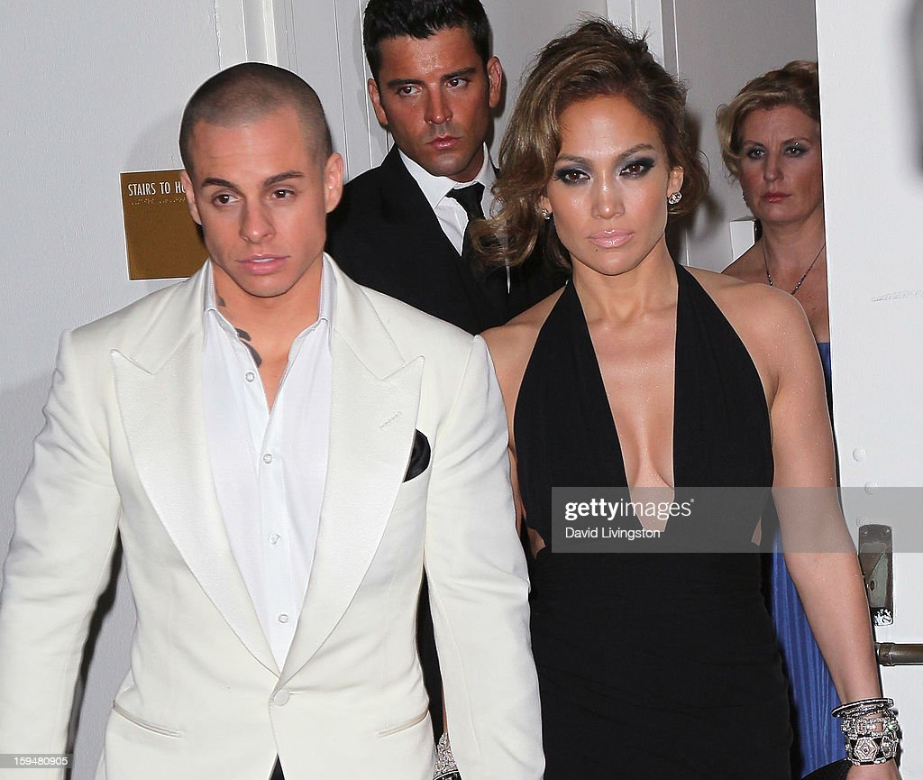 Casper Smart and singer Jennifer Lopez attend The Weinstein Company's 2013 Golden Globe Awards After Party at The Beverly Hilton hotel on January 13...