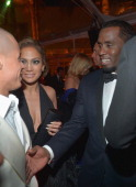 Casper Smart Jennifer Lopez and Sean Combs attend The Weinstein Company's 2013 Golden Globe Awards After Party presented by Chopard held at The Old...