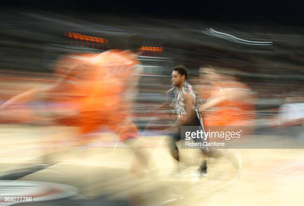 Casper Ware of the Melbourne United runs with the ball during the round five NBL match between Melbourne United and the Cairns Taipans at Hisense...