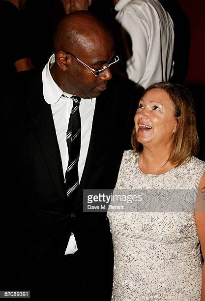 Cass Pennant and his wife attend the afterparty following the UK film premiere of 'Cass' at Metra on July 28 2008 in London England