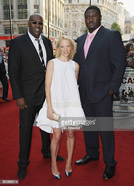 Cass Pennant Natalie Press and Nonso Anozie arrive at the premiere of 'Cass' at the Empire Leicester Square on July 28 2008 in London England