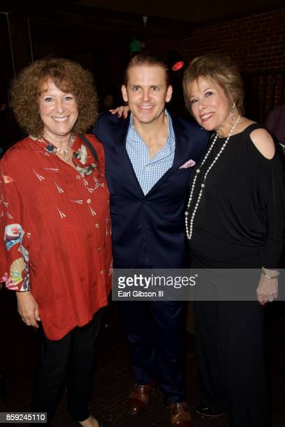 Cass Warner Robert Creighton and Kate Edelman Johnson attend the opening of 'Cagney' at El Portal Theatre on October 8 2017 in North Hollywood...