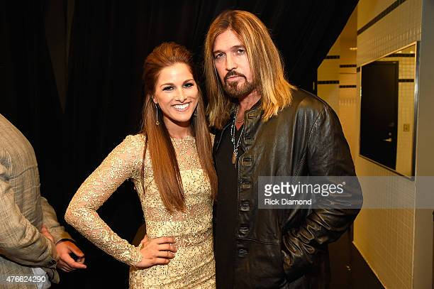 Cassadee Pope and Billy Ray Cyrus attend the 2015 CMT Music awards at the Bridgestone Arena on June 10 2015 in Nashville Tennessee