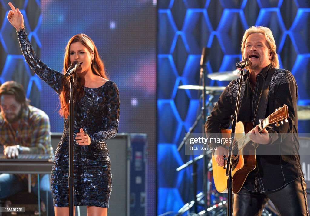 Cassadee Pope and Travis Tritt perform on CMT Artists Of The Year 2013 at Music City Center on December 3 2013 in Nashville Tennessee