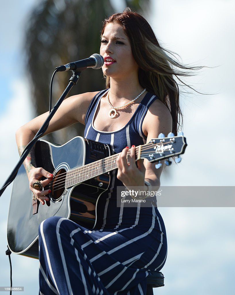 Cassadee Pope performs at the Trump Invitational Grand Prix at Mar-a-Lago on January 6, 2013 in Palm Beach, Florida.