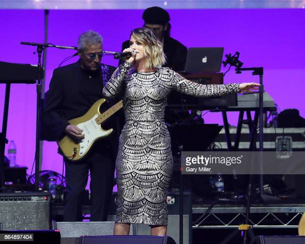 Cassadee Pope performs in concert during the 'Deep From The Heart One America Appeal Concert' at Reed Arena on October 21 2017 in College Station...