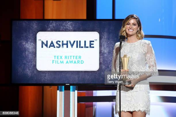 Cassadee Pope speaks onstage during the 11th Annual ACM Honors at the Ryman Auditorium on August 23 2017 in Nashville Tennessee