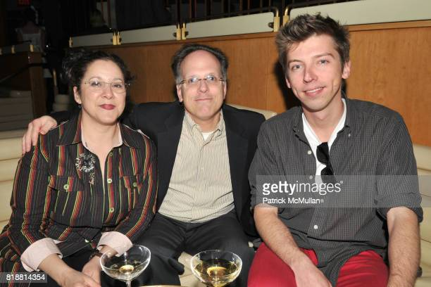 Cassagndra Lozano Larry Levine and Evan Ryer attend ART PRODUCTION FUND Birthday Benefit at On Top of the Standard on April 12 2010 in New York City