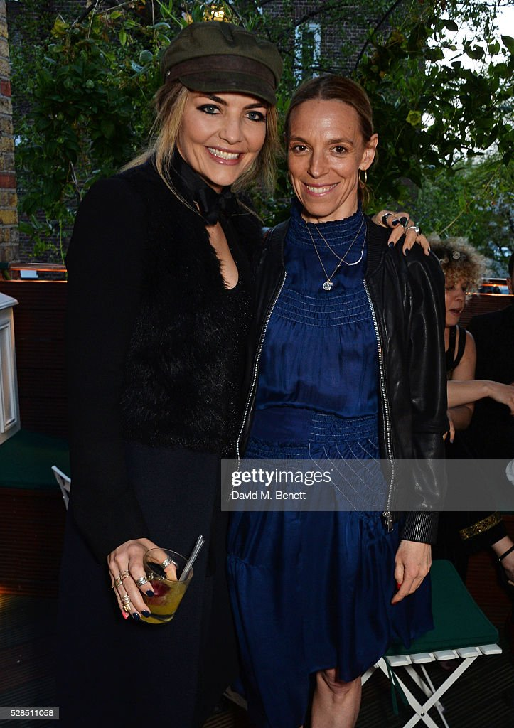 Cassandra Gracey (L) and Tiphaine de Lussy attend a private dinner hosted by Rodial founder Maria Hatzistefanis & Bay Garnett at Casa Cruz on May 5, 2016 in London, England.