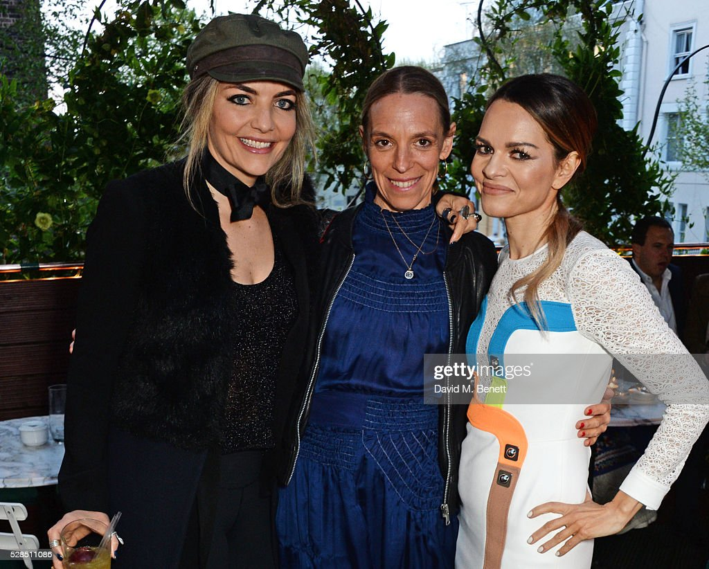 Cassandra Gracey, Tiphaine de Lussy and Maria Hatzistefanis attend a private dinner hosted by Rodial founder Maria Hatzistefanis & Bay Garnett at Casa Cruz on May 5, 2016 in London, England.