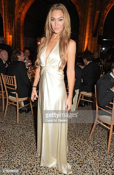 Cassandra Harris attends the 2015 FIA Formula E Visa London ePrix Gala Dinner at the Natural History Museum on June 28 2015 in London England