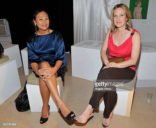 Cassandra Hepburn and Colleen Brock attend Negris Lebrum Spring 2013 at the Shop Studios on September 10 2012 in New York City