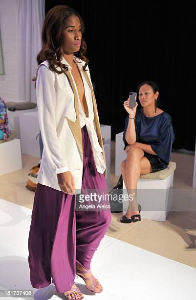 Cassandra Hepburn attends Negris Lebrum Spring 2013 at the Shop Studios on September 10 2012 in New York City
