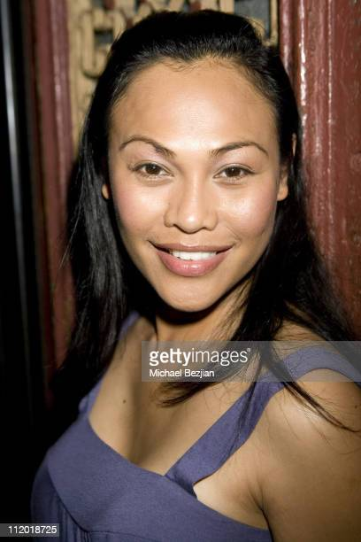 Cassandra Hepburn during Debut of Mblem's Holiday Collection at Citizen Smith in Hollywood California United States