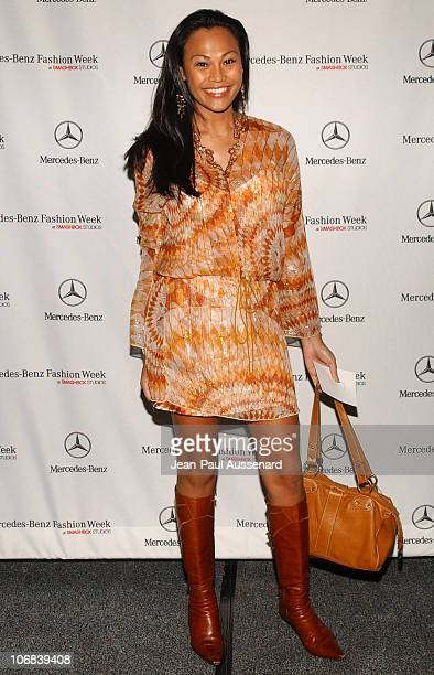 Cassandra Hepburn during MercedesBenz Spring 2006 LA Fashion Week at Smashbox Studios Day 1 Arrivals at SmashBox Studios in Culver City California...