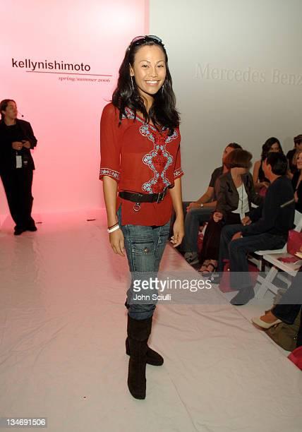 Cassandra Hepburn front row at Kelly Nishimoto Spring 2006