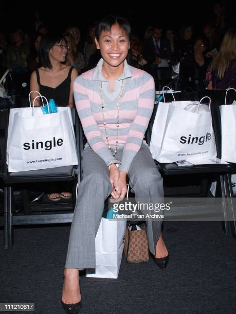 Cassandra Hepburn front row at Single Spring 2007 during MercedesBenz Spring 2007 Los Angeles Fashion Week at Smashbox Studios Single Front Row and...