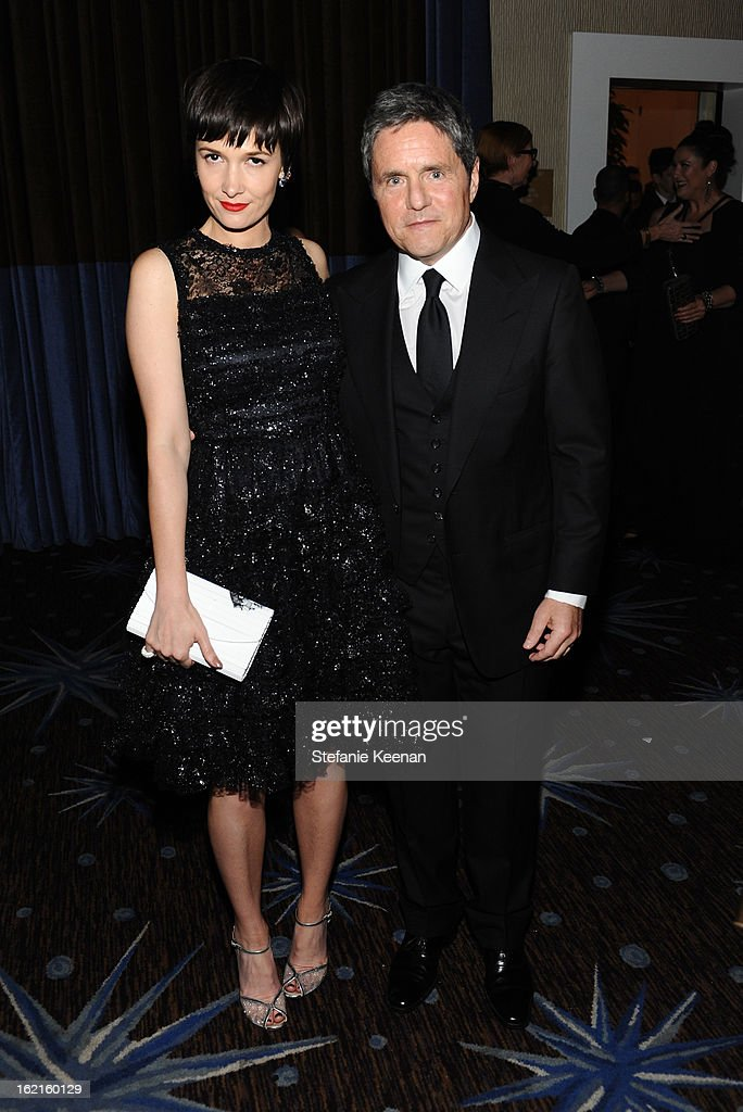 Cassandra Huysentruyt Grey and Paramount Pictures Chairman/CEO Brad Grey attend the 15th Annual Costume Designers Guild Awards with presenting sponsor Lacoste at The Beverly Hilton Hotel on February 19, 2013 in Beverly Hills, California.