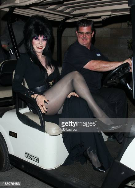 Cassandra Peterson aka Elvira attends the Knott's Scary Farm 'Haunt' VIP Opening Night Party at Knott's Berry Farm on October 3 2013 in Buena Park...