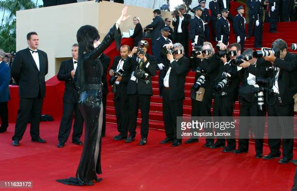 Cassandra Peterson aka Elvira during 2003 Cannes Film Festival 'Il Cuore Altrove' Premiere at Palais des Festivals in Cannes France