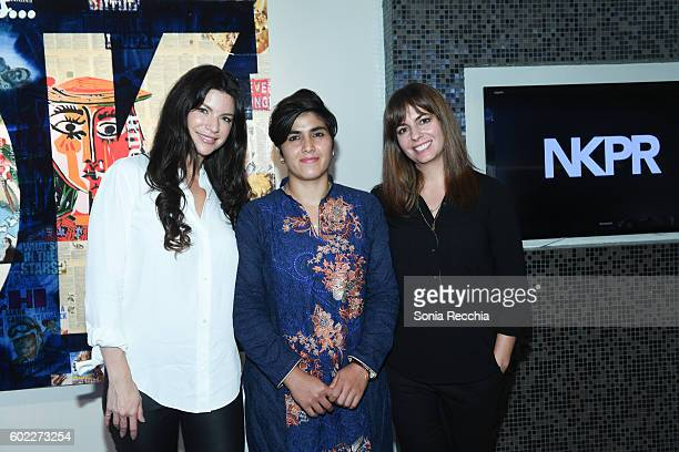 Cassandra Sanford Rosenthal Maria Toorpakai and Erin Heidenreich attend W Magazine NKPR IT House x Producers Ball Studio at IT Lounge on September 10...