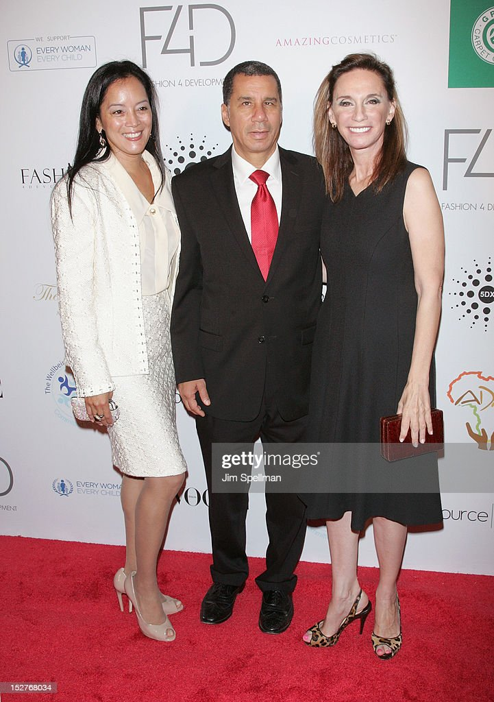 Cassandra Seidenfeld, Governor <a gi-track='captionPersonalityLinkClicked' href=/galleries/search?phrase=David+Paterson+-+American+Politician&family=editorial&specificpeople=3006680 ng-click='$event.stopPropagation()'>David Paterson</a> and Michele Gerber Klein attend the 2nd Annual Fashion 4 Development First Ladies Luncheon at The Pierre Hotel on September 25, 2012 in New York City.