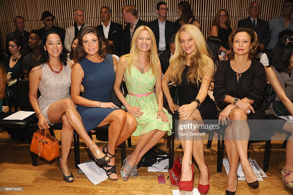 Cassandra Seidenfeld, Nicole Noonan, Leesa Rowland, Consuelo Vanderbilt Costin and Barbara Hemmerly Gollust attend the Douglas Hannant show during Spring 2014 Mercedes-Benz Fashion Week at DiMenna Center on September 11, 2013 in New York City.