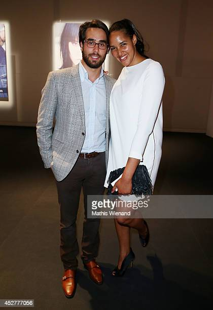 Cassandra Steen and her boyfriend Stephan Kocijan attend the SOliver Collection Presentation on July 26 2014 in Duesseldorf Germany