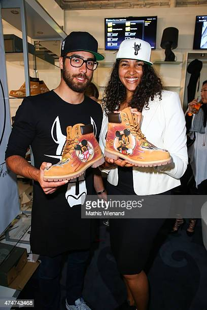 Cassandra Steen and Stephan Kocijan attend the showroom opening of the fashion brand Cavallo De Ferro Brasil on May 25 2015 in Duesseldorf Germany
