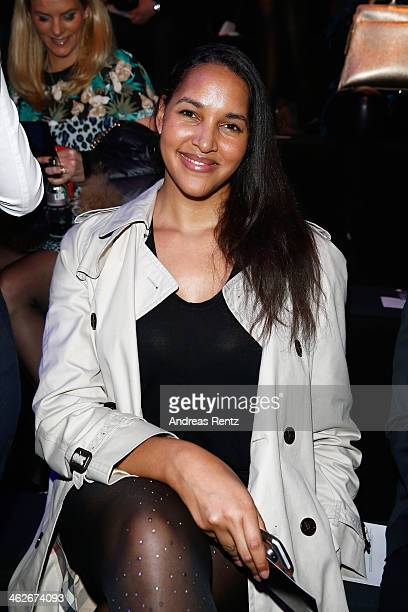 Cassandra Steen attends the Riani show during MercedesBenz Fashion Week Autumn/Winter 2014/15 at Brandenburg Gate on January 14 2014 in Berlin Germany