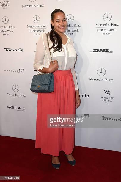 Cassandra Steen attends the Schumacher Show during MercedesBenz Fashion Week Spring/Summer 2014 at the Brandenburg Gate on July 4 2013 in Berlin...