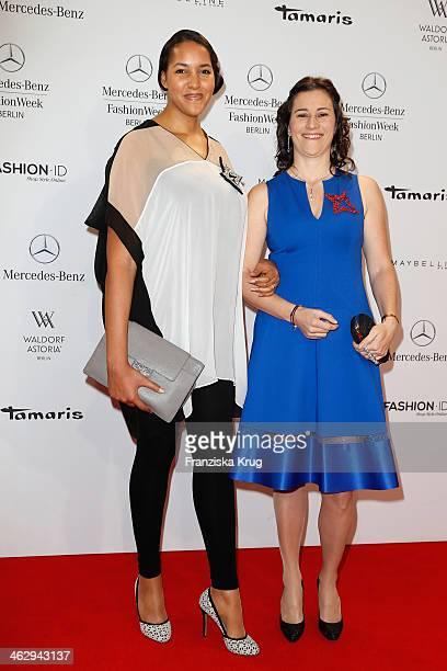 Cassandra Steen attends the Schumacher show during MercedesBenz Fashion Week Autumn/Winter 2014/15 at Brandenburg Gate on January 16 2014 in Berlin...