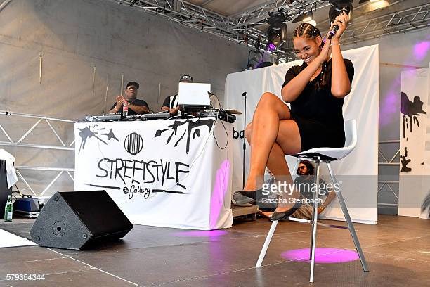 Cassandra Steen performs during day 1 of the Streetstyle@Gallery event at Areal Boehler on July 22 2016 in Duesseldorf Germany