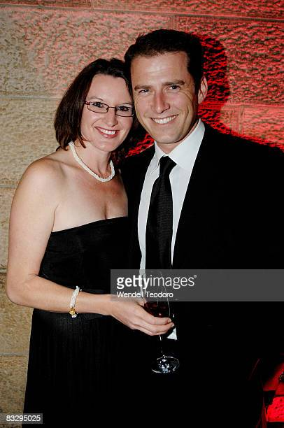 Cassandra Thorburn and Karl Stefanovic attend the Sydney Global Illumination Gala Dinner 2008 in support of the National Breast Cancer Foundation at...
