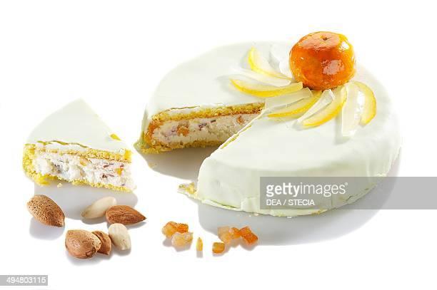 Cassata Sicilian Easter cake with ricotta cheese Sicily Italy