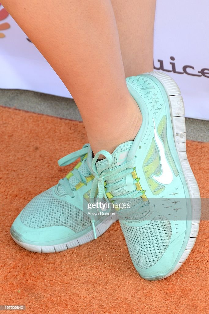 Cassey Ho (shoe detail) attends the annual Jamba FiTrends Expo featuring Olympian and tennis star Venus Williams on April 25, 2013 in Santa Monica, California.