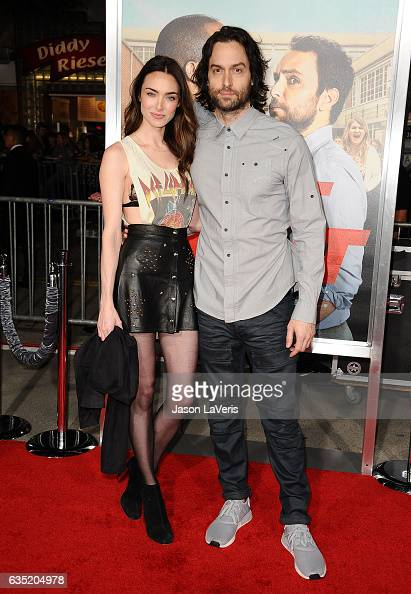 Cassi Colvin and Chris D'Elia attend the premiere of 'Fist Fight' at Regency Village Theatre on February 13 2017 in Westwood California