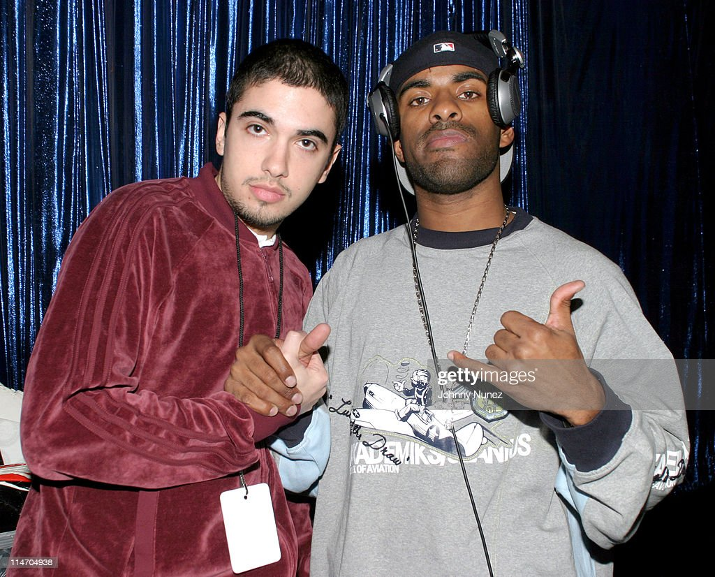 DJ Cassidy and DJ Clue during Sean 'P Diddy' Combs Runs The City PreMarathon Party Fundraiser at The Supper Club in New York City New York United...