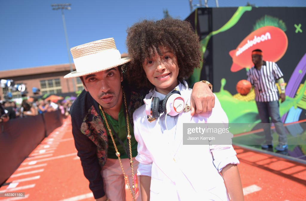 <a gi-track='captionPersonalityLinkClicked' href=/galleries/search?phrase=DJ+Cassidy&family=editorial&specificpeople=691457 ng-click='$event.stopPropagation()'>DJ Cassidy</a> and DJ Fulano attend Nickelodeon Kids' Choice Sports Awards 2014 at UCLA's Pauley Pavilion on July 17, 2014 in Los Angeles, California.