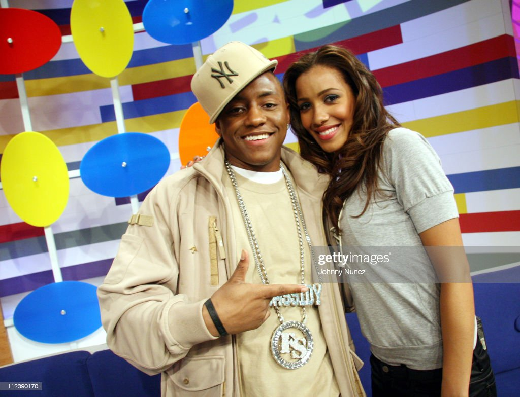 Cassidy and Julissa during LL Cool J and Cassidy Visit BET's '106 and Park' April 12 2006 at 106 and Park in New York City New York United States