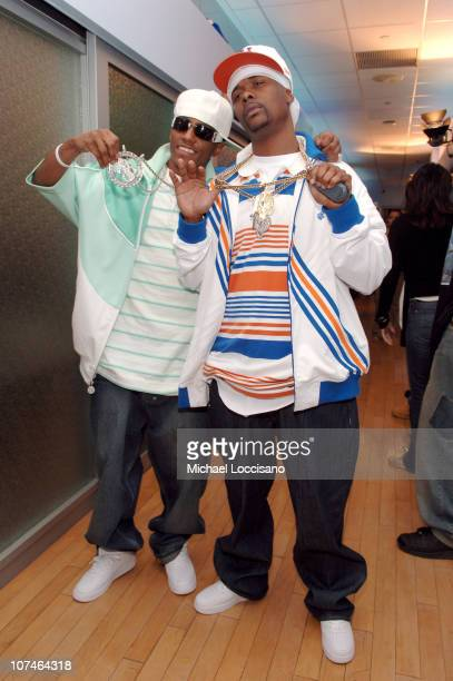 Cassidy and Memphis Bleek during MTV Presents HipHop Week April 26 2005 at MTV Studios Times Square in New York City New York United States