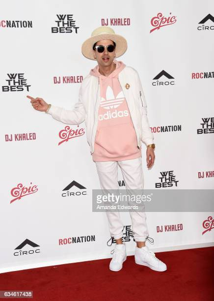 Cassidy attends DJ Khaled's special press conference where DJ Khaled announced the title of his new album is going to be 'Grateful' at The Beverly...